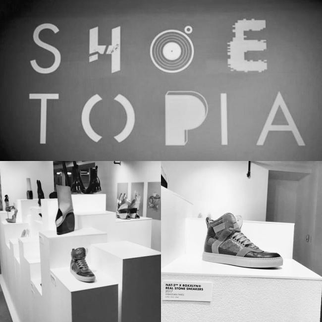 nat-2 Shoetopia exhibition Detroit USA real stone sneakers
