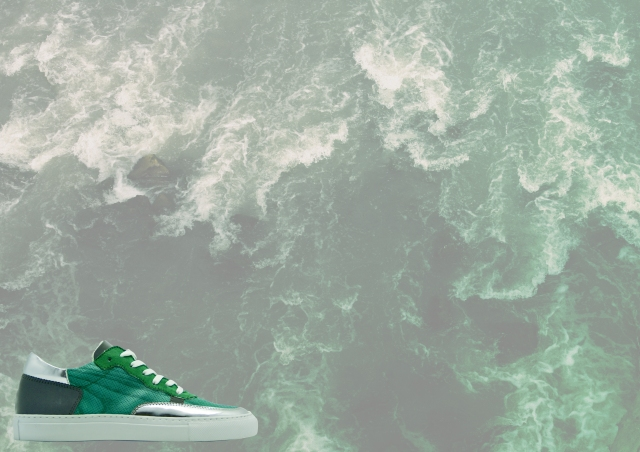 nat-2 wooden sneaker green ad