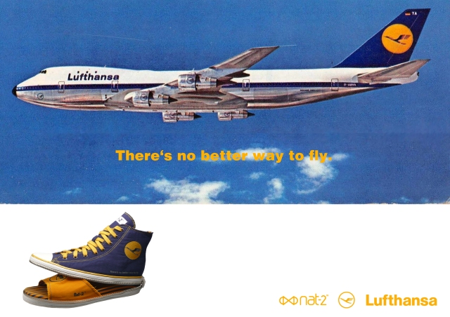 nat-2 x Lufthansa 2 in 1 sneaker navy