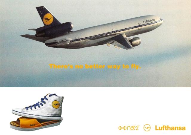 nat-2 x Lufthansa 2 in 1 sneaker silver