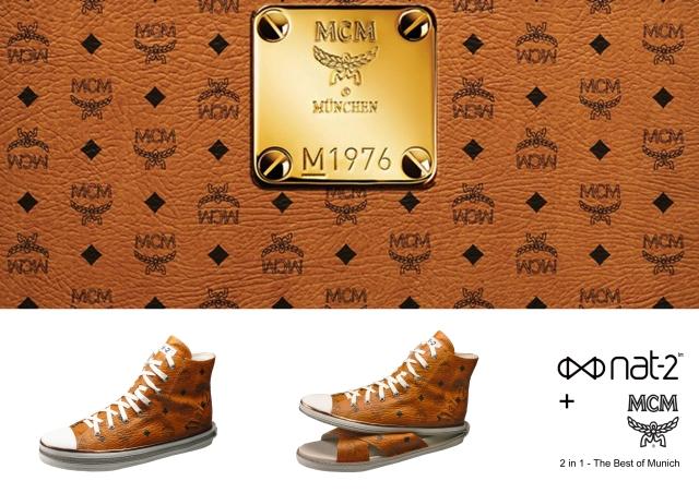 nat-2 x MCM 2 in 1 sneaker