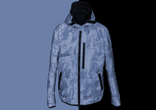 nat-2 iridescent reflective jacket sky blue Kopie