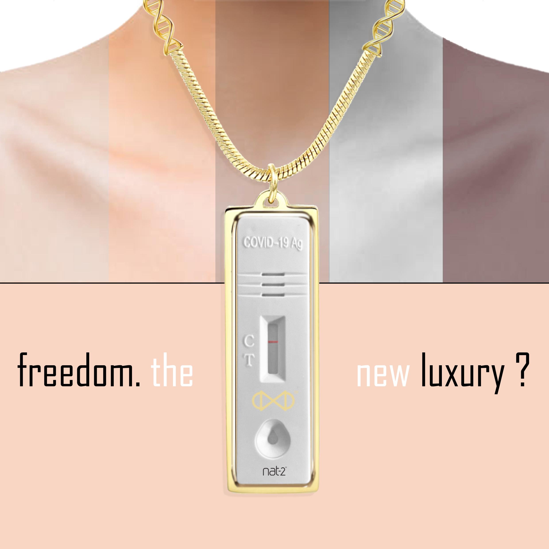 nat-2 freedom the new luxury corona antigen test holder nacklace covid 19